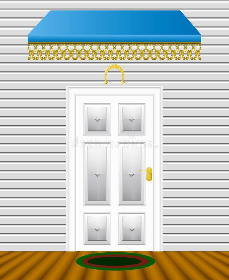 Porta de entrada. ilustração do vetor