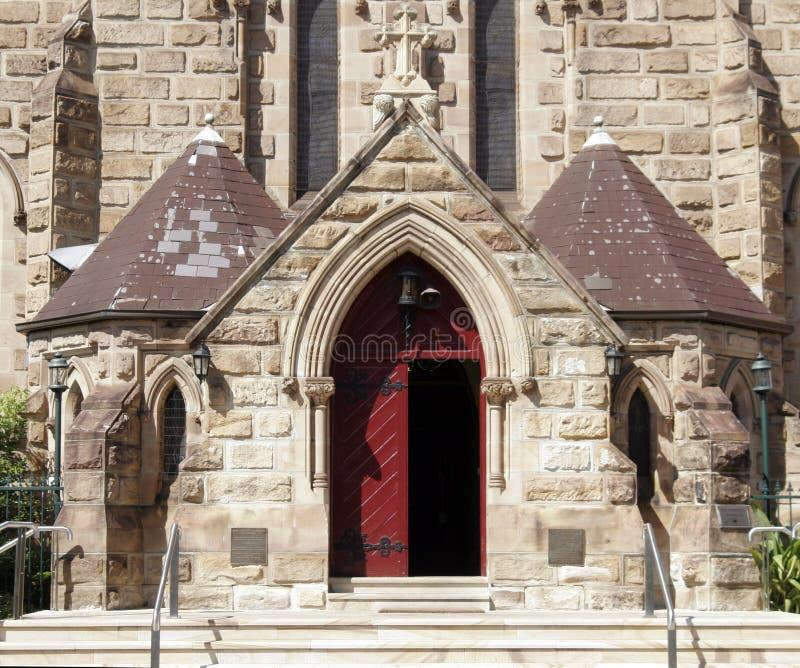Porta de entrada da igreja fotos de stock