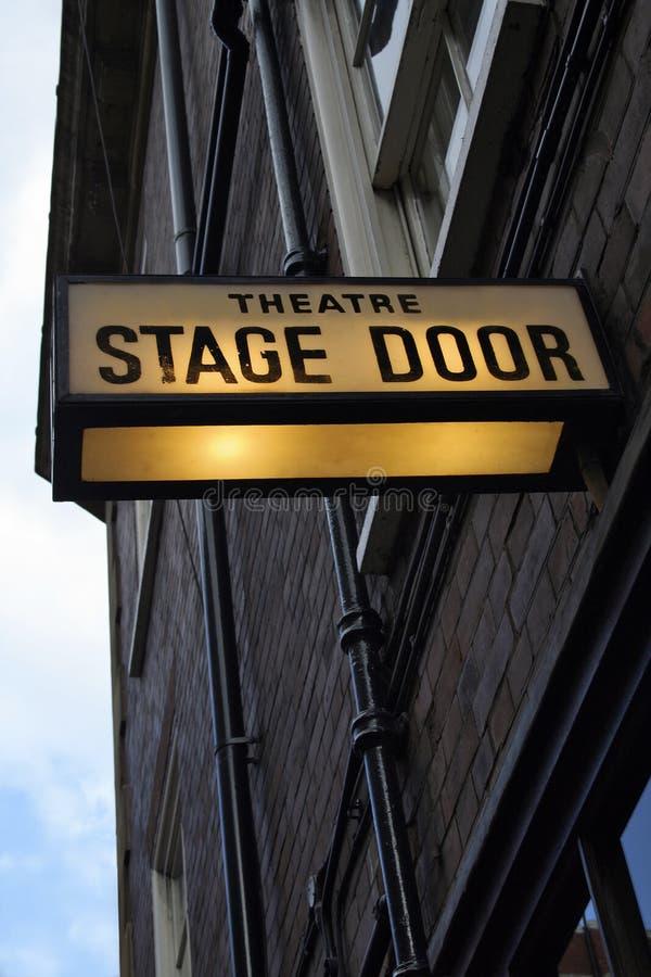 Porta de estágio do teatro foto de stock