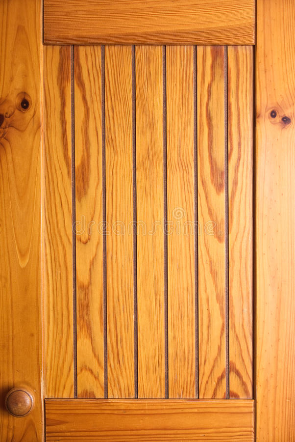 Porta de gabinete de madeira foto de stock