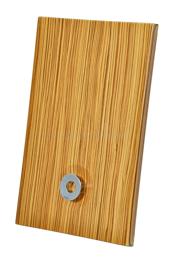 Porta de gabinete de madeira imagem de stock