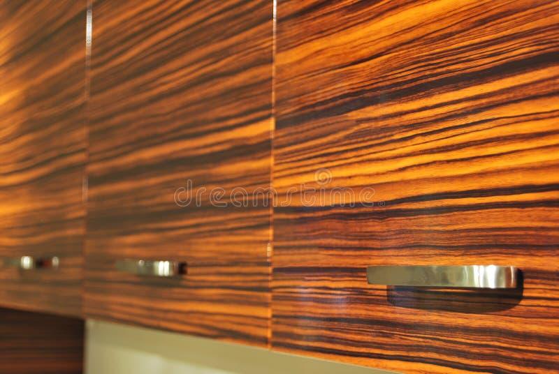 Porta de gabinete de madeira imagens de stock royalty free
