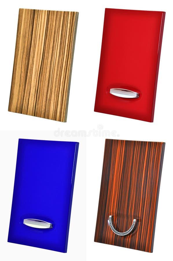 Porta de gabinete de madeira fotos de stock royalty free