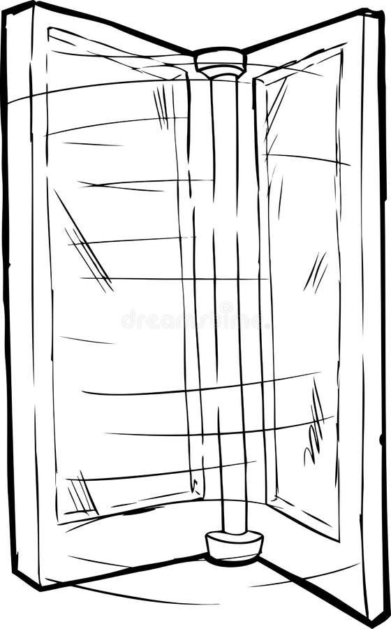 Porta de giro esboçada ilustração stock