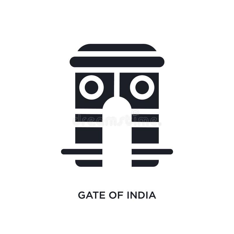 a porta de india isolou o ícone ilustração simples do elemento dos ícones do conceito de india porta do projeto editável do símbo ilustração stock