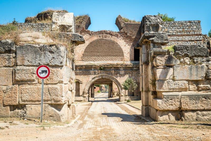 Porta de Istambul da cidade antiga de Nicea, Iznik imagens de stock royalty free