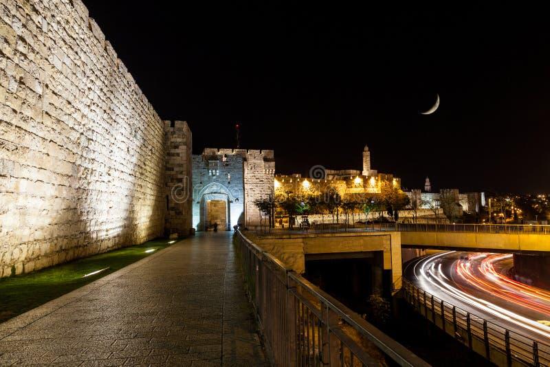 Porta de Jaffa, Jerusalem imagens de stock
