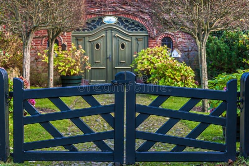 Porta de jardim foto de stock
