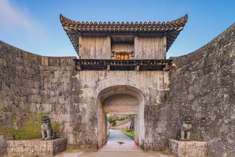 Porta de Kankaimon do castelo de Shuri na vizinhan?a de Naha, a capital de Shuri de Okinawa Prefecture, Jap?o imagens de stock royalty free