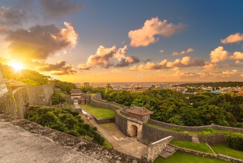 Porta de Kyukeimon do castelo de Shuri na vizinhan?a de Naha, a capital de Shuri de Okinawa Prefecture, Jap?o imagens de stock