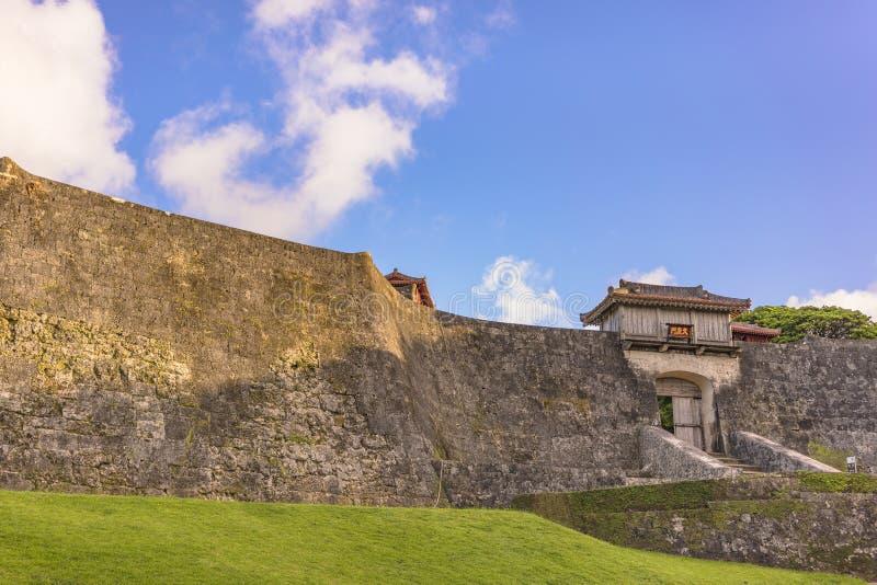 Porta de Kyukeimon do castelo de Shuri na vizinhan?a de Naha, a capital de Shuri de Okinawa Prefecture, Jap?o fotos de stock