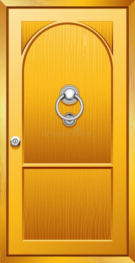 Porta de madeira ilustração do vetor