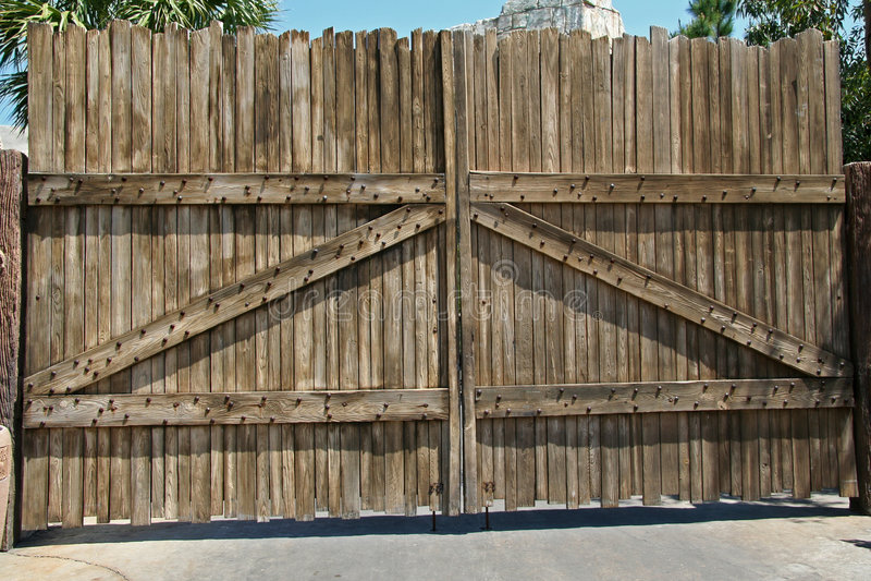 Porta de madeira imagens de stock royalty free