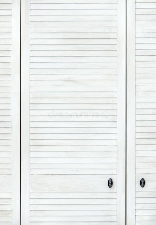 Porta de madeira branca foto de stock