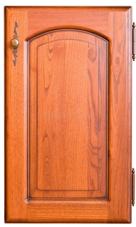 Porta de madeira da mobília com punho foto de stock royalty free