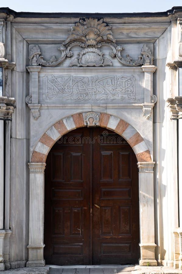 Porta de madeira do otomano idoso fotografia de stock royalty free