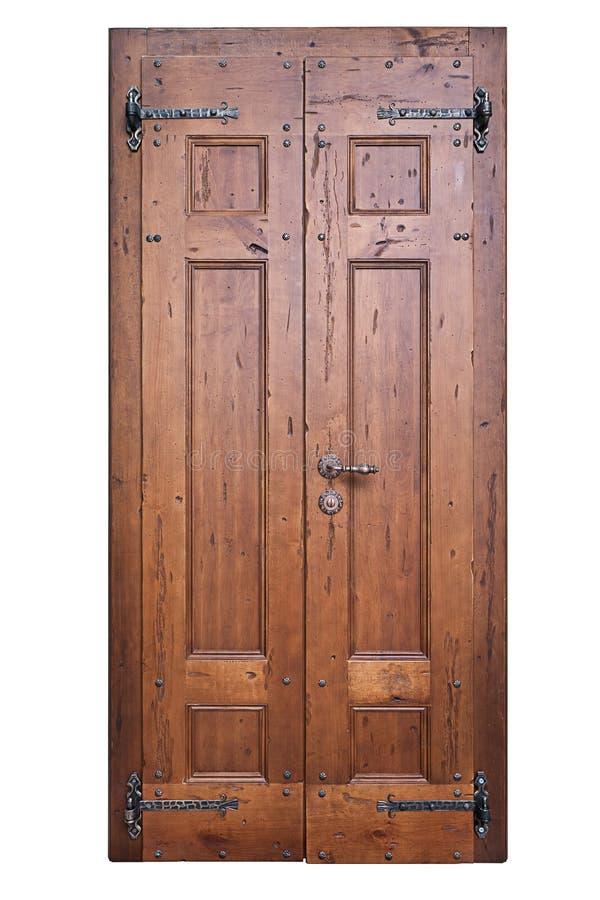 Porta de madeira do vintage imagens de stock royalty free