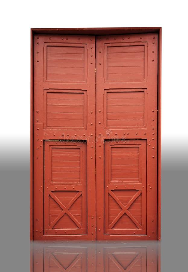 Porta de madeira em um templo fotos de stock royalty free