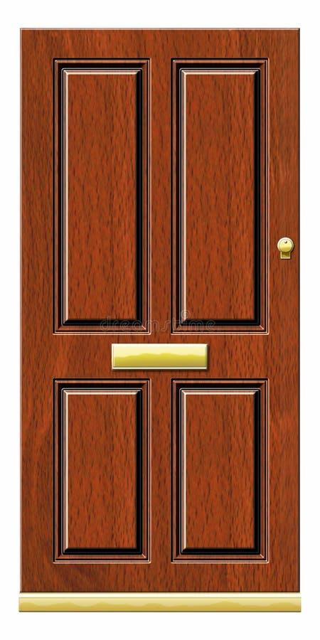 Porta de madeira Illustratrion fotografia de stock