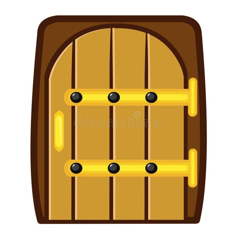 Porta de madeira ilustração isolada