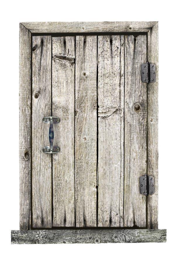 Porta de madeira isolada em um fundo branco foto de stock royalty free
