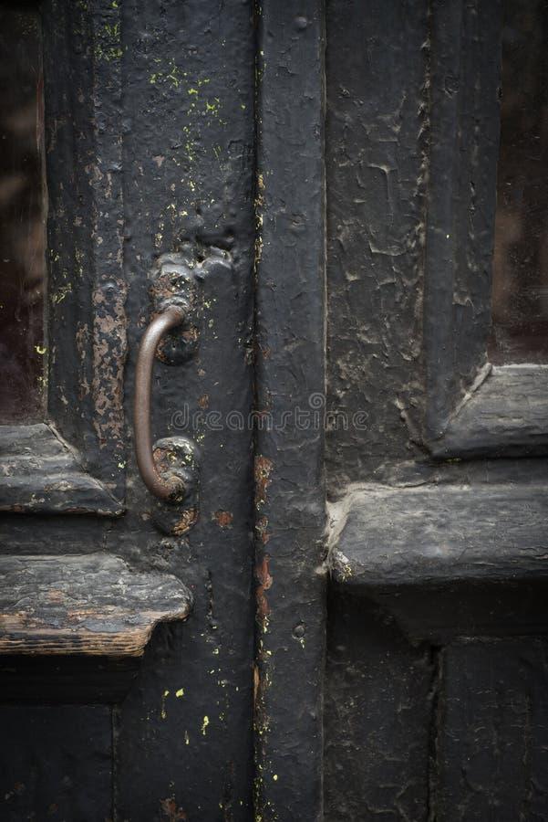 Porta de madeira marrom do vintage foto de stock royalty free