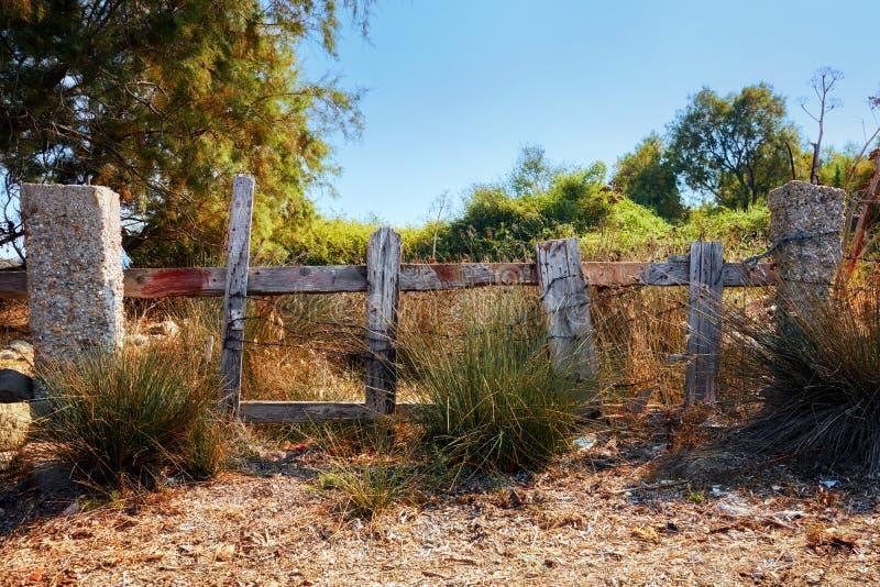 Porta de madeira velha da cerca imagem de stock royalty free
