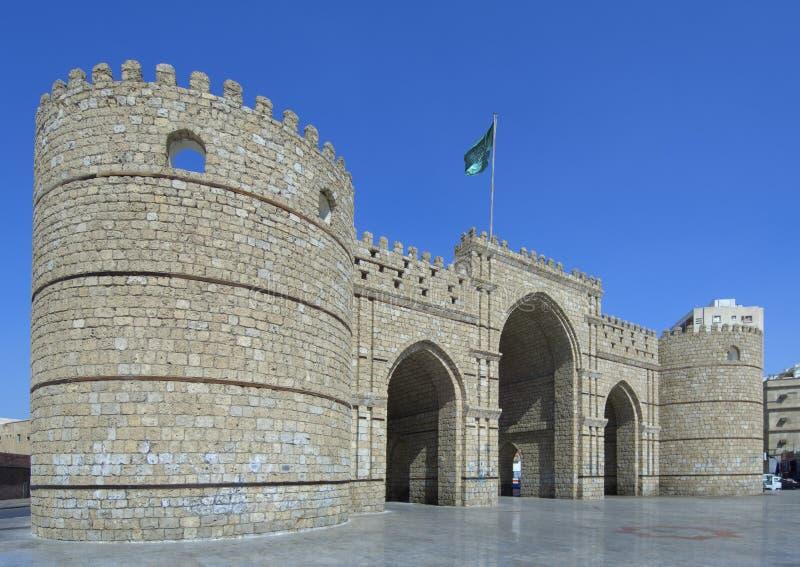 Porta de Makkah na cidade de Jeddah fotografia de stock royalty free