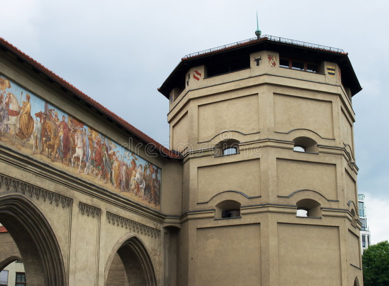 Porta de Munich fotos de stock royalty free