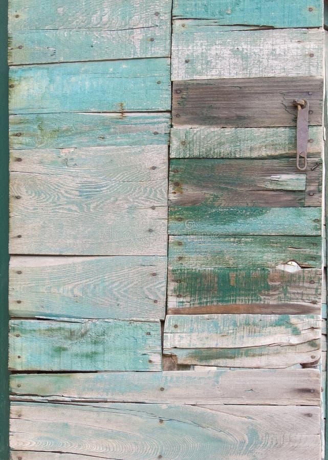 Porta de painel de madeira da madeira da sucata fotos de stock