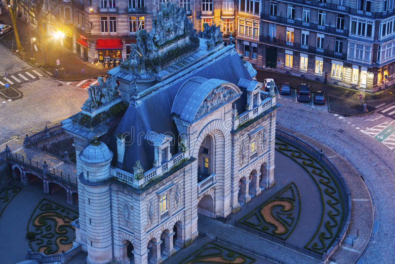 Porta de Paris in Lille. Lille, Nord-Pas-de-Calais, France royalty free stock photography