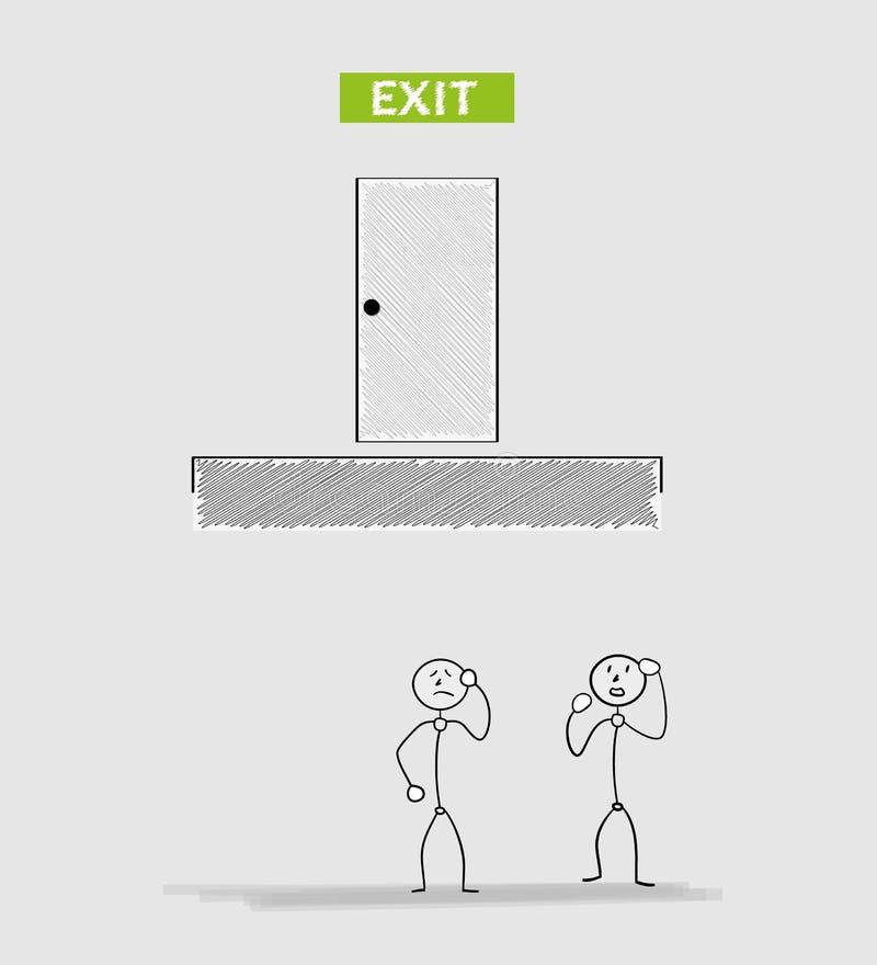 Porta de saída ilustração royalty free