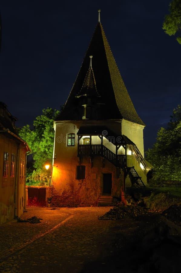Porta de Sighisoara, a Transilvânia da cidade foto de stock royalty free