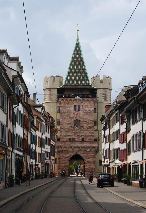 Porta de Spalentor em Basileia, Suíça fotografia de stock royalty free