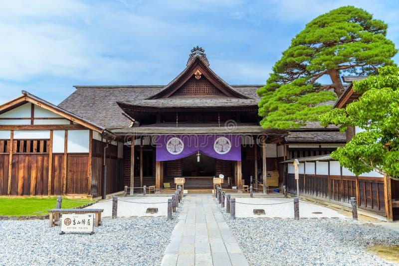 Porta de Takayama Jinya, antigo posto avançado do governo imagem de stock