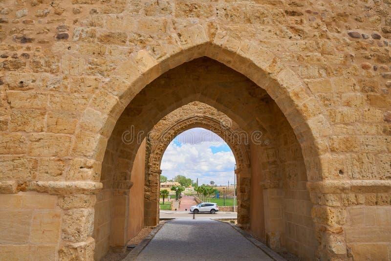 Porta de Villalpando de Saint Andres na Espanha de Zamora foto de stock