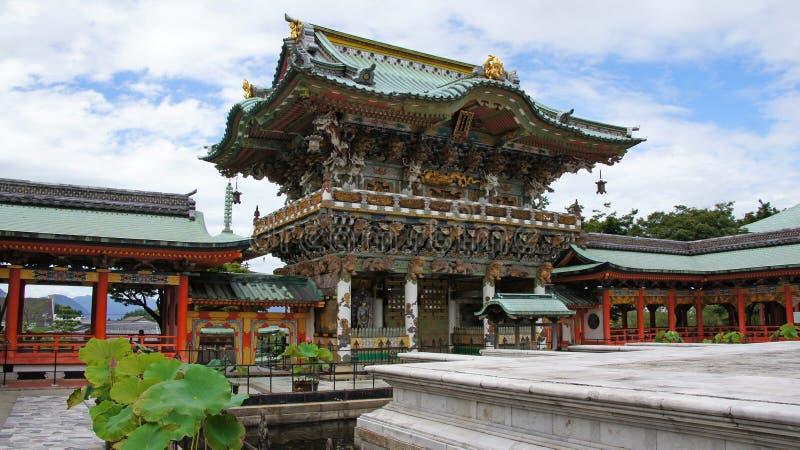 Porta de Yomeimon de Kosanji Temple em Japão imagens de stock royalty free