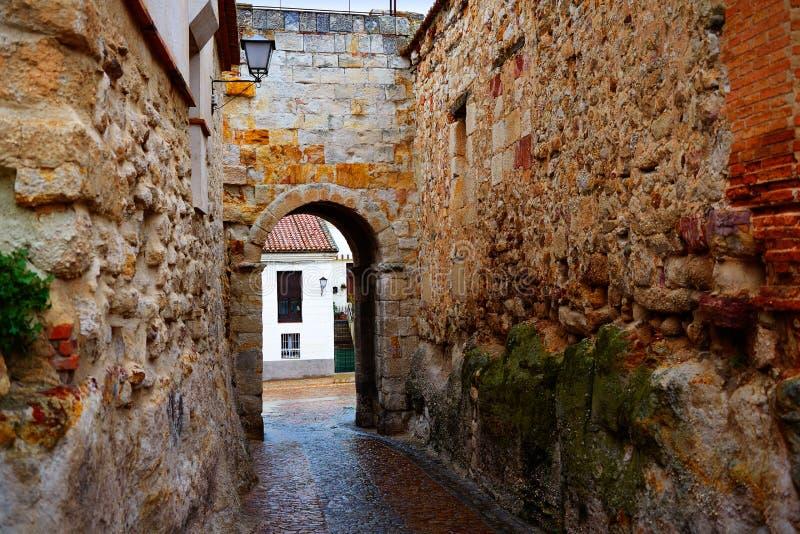 Porta de Zamora de Dona Urraca na Espanha imagem de stock royalty free