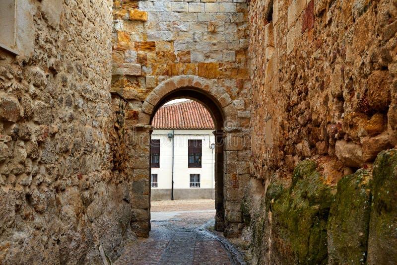 Porta de Zamora de Dona Urraca na Espanha fotografia de stock royalty free