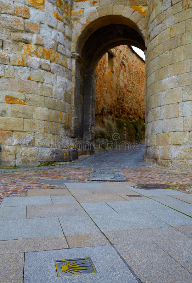 Porta de Zamora de Dona Urraca na Espanha foto de stock royalty free
