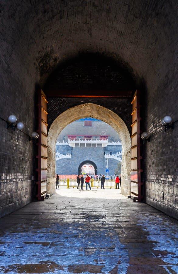 Porta de Zhengyangmen fotografia de stock