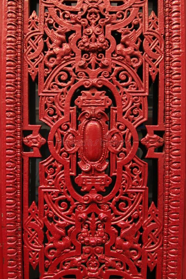 Porta decorativa do metal da janela fotografia de stock royalty free