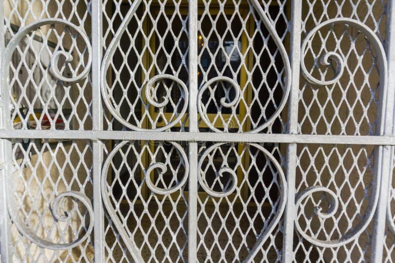 Porta decorativa do metal, San Francisco, Califórnia imagens de stock royalty free