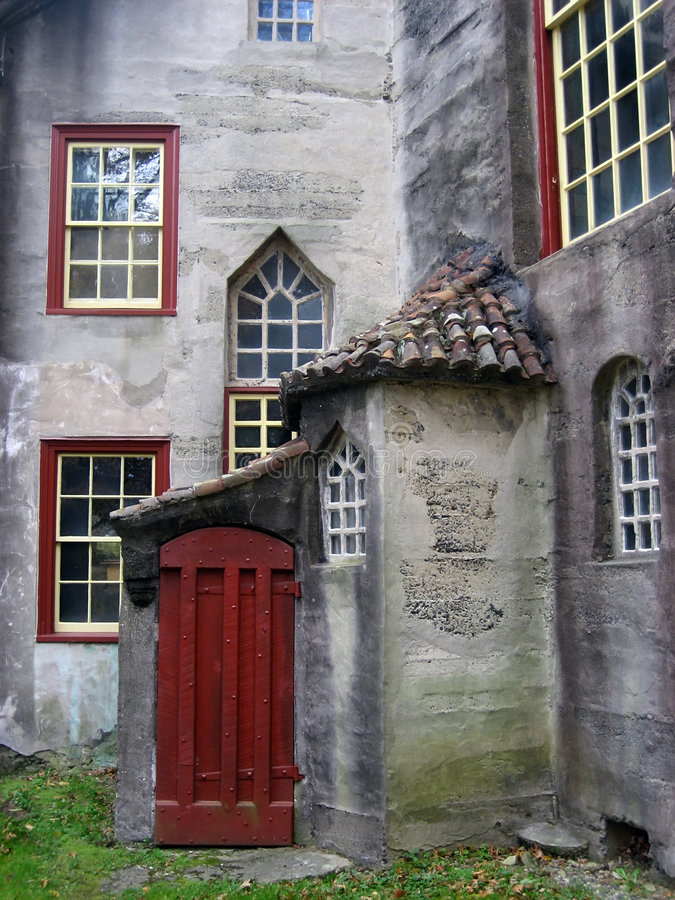 Porta del castello di Moravian fotografie stock libere da diritti