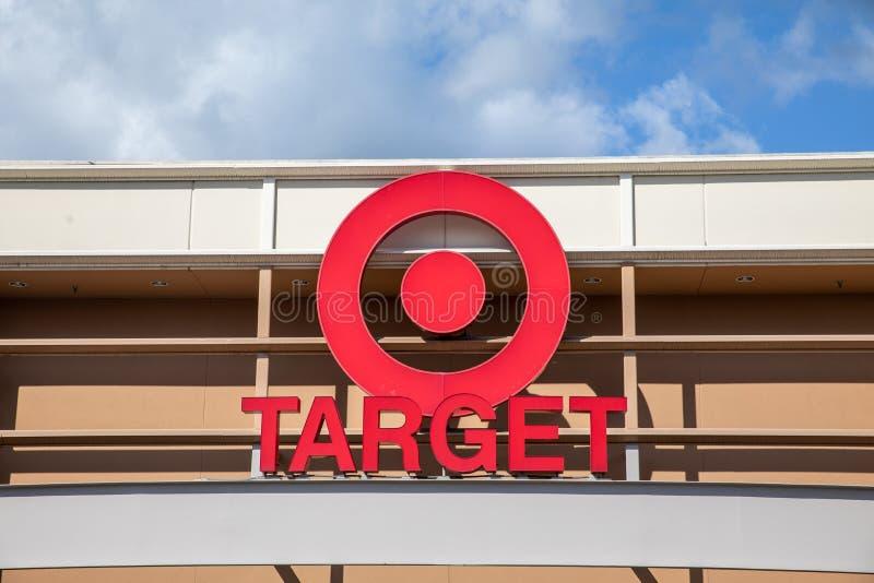 Porta del centro commerciale Marshalls, grandi magazzini americani off-price in Oregon, USAc fotografia stock libera da diritti