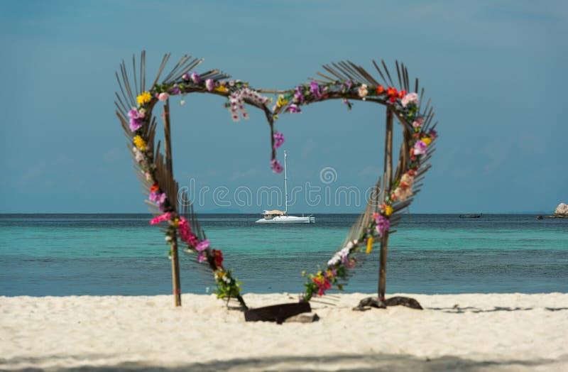 Porta del cuore, Koh Lipe Island - Tailandia fotografia stock
