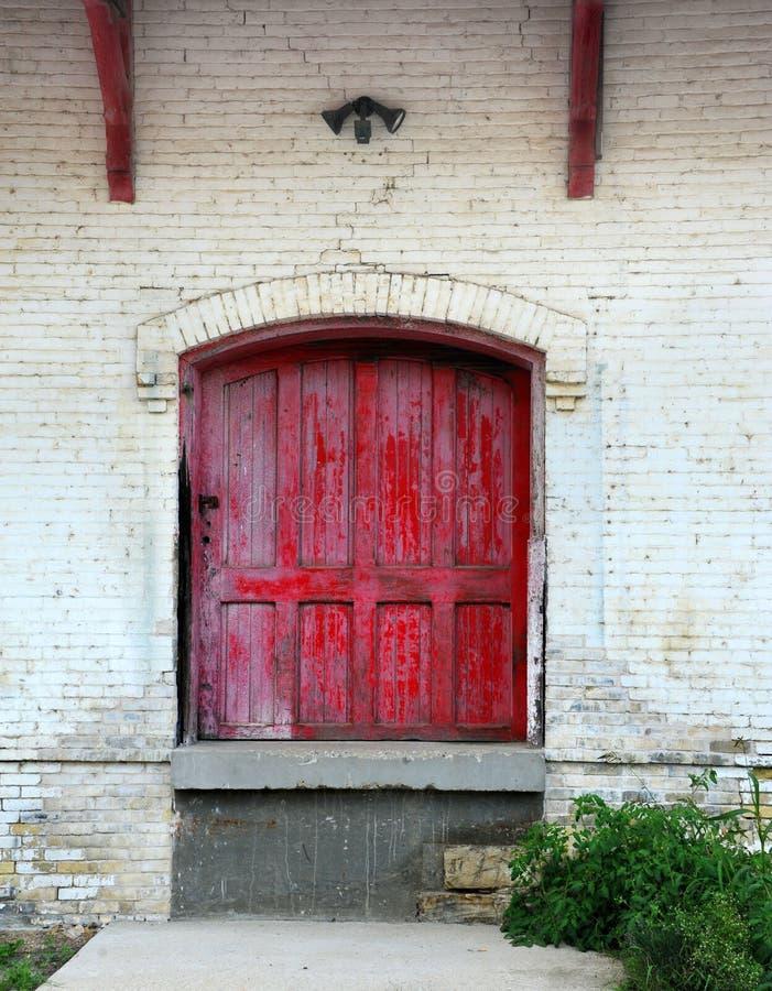 Porta del deposito fotografie stock libere da diritti