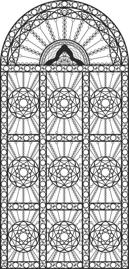 Porta del ferro battuto  royalty illustrazione gratis