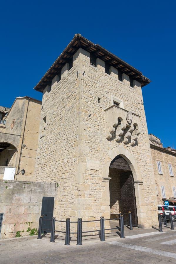 Porta del Loco San Francesco Gate di San Marino fotografie stock libere da diritti