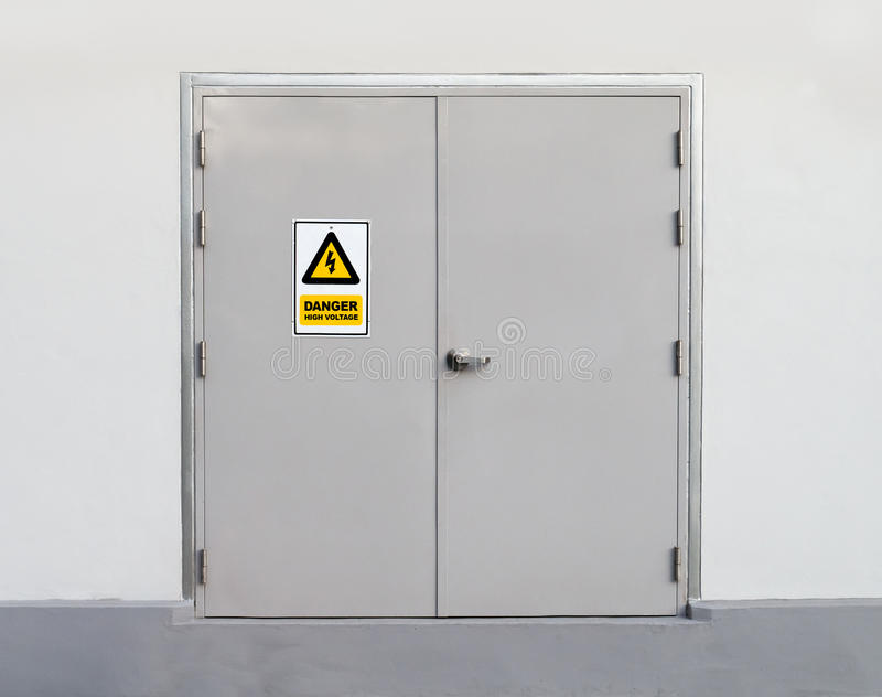 Porta del metallo immagine stock
